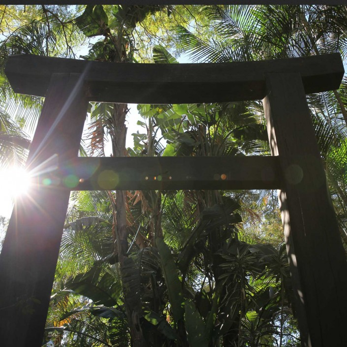 balinese, timber arch