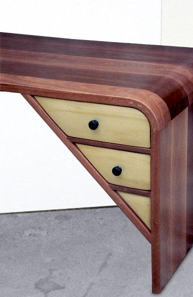 custom desk, mid century deck, eames desk