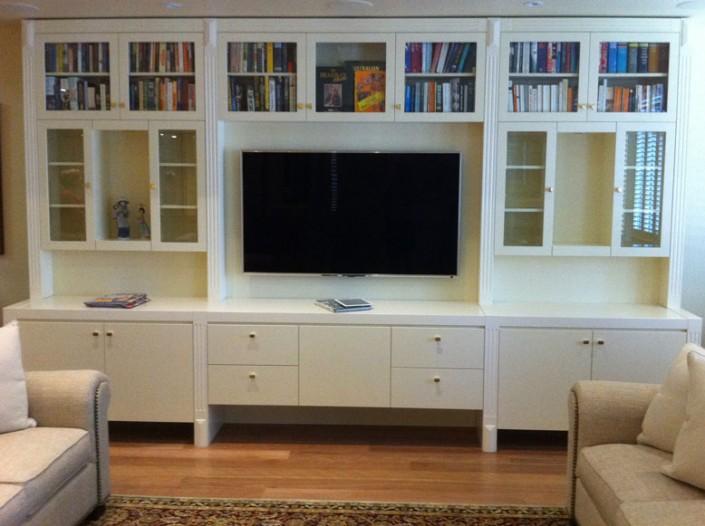 media centre, entertainment unit, custom furniture